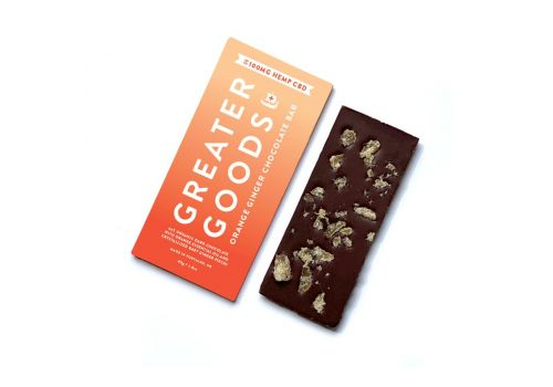 Greater Goods - Orange Ginger Chocolate Bar 100mg Hemp CBD, 1.8 oz