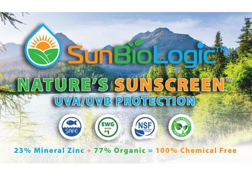 SunBioLogic Organic Sunscreen - Naturally Tinted, LIGHT/MEDIUM Tone - SPF 30+, 2 oz