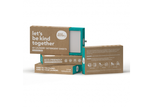 Kind Laundry - Detergent Sheets - Fragrance Free, 60 sheets